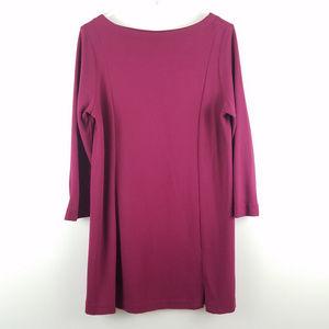J Jill Ponte Knit Dress 3/4 Sleeve